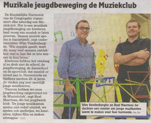 Artikel Nieuwsblad van 13/10/2012